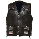 "Gilet cuir Lacets ""14 Patches"""