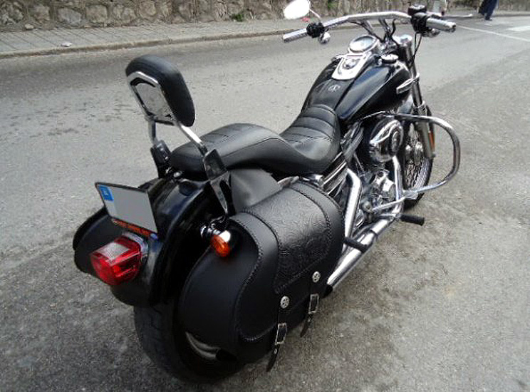 Sacoches Cuir Sportster Dyna Softail Road N Roll